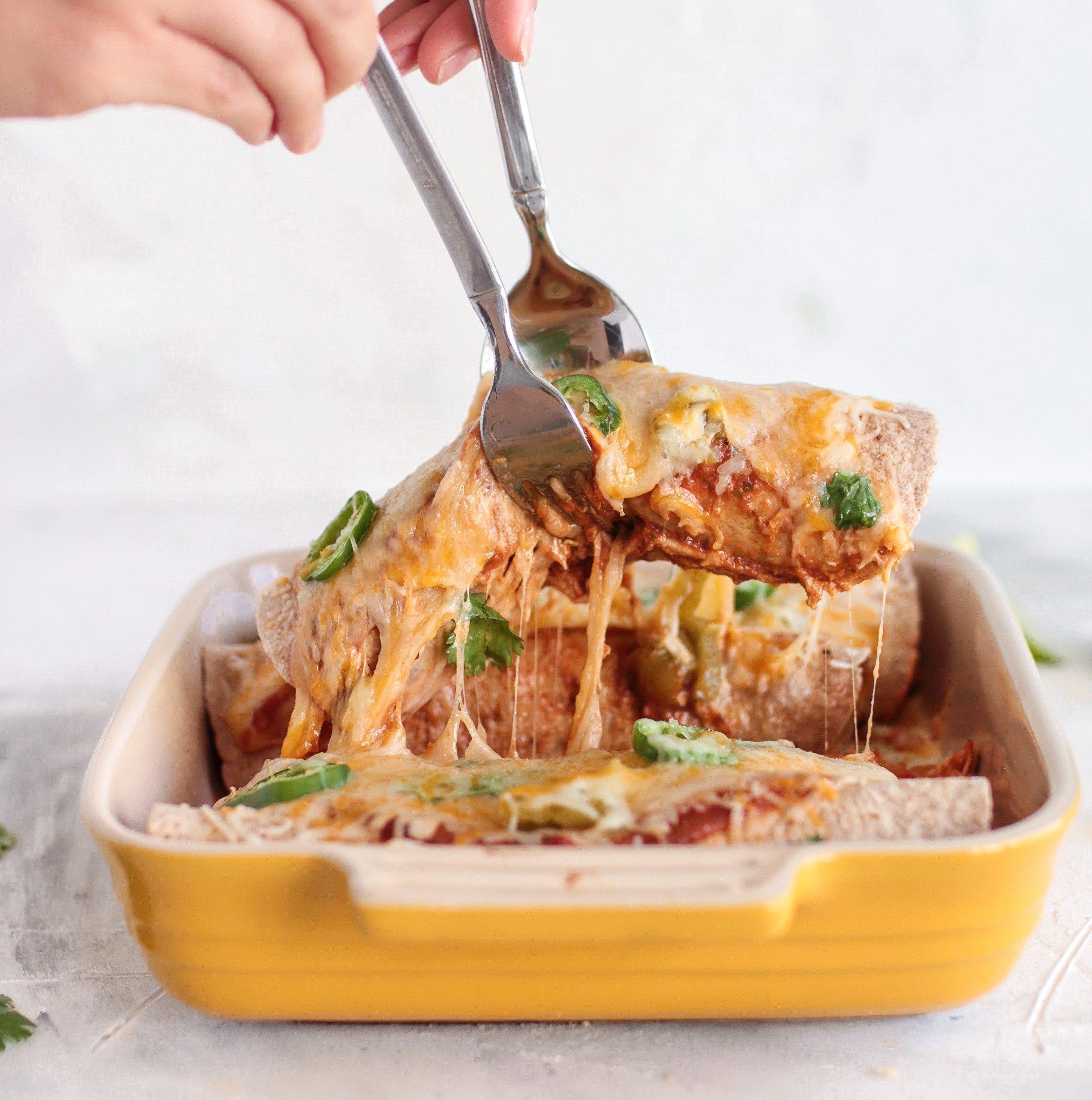 Balanced & Healthy Mexican Lasagna